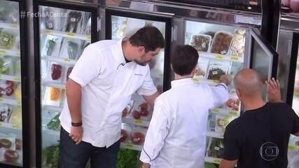 Jurados visitam o mercado do 'Fecha a Conta Pizza'