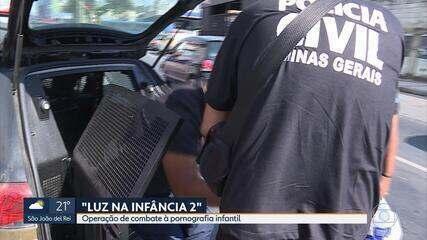 Mais de 20 pessoas são presas em operação contra pronografia infantil em Minas