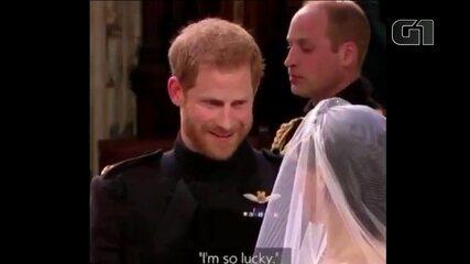 Harry diz que Meghan está incrível e que é 'muito sortudo'