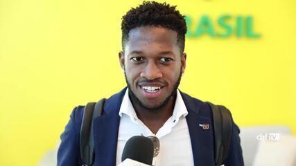 Fred chega à Granja Comary ressaltando alegria de disputar Copa do Mundo pela Seleção