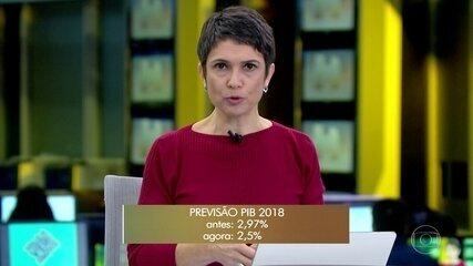 Governo reduz previsão do PIB para 2018