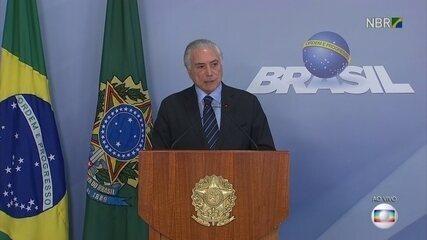 Presidente Michel Temer acionou forças federais para desbloquear as estradas
