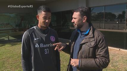 Lucca aposta em ousadia para ganhar vaga no Inter e promete vibrar contra o Timão