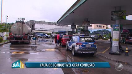Greve dos caminhoneiros: falta de combustível provoca confusão em auto posto da capital
