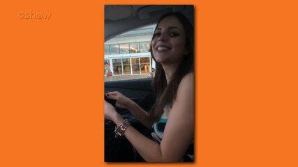Lucas grava vídeo se divertindo com Ana Lúcia no carro