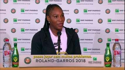 Serena Williams vence em Roland Garros e fala sobre volta após gravidez