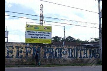 Estudantes de escola da rede estadual em Benevides sofrem com abandono