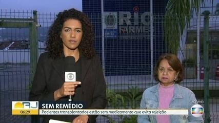 Remédio para transplantados está em falta na rede pública do RJ