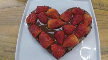 Brownie de Coração do 'É de Casa'