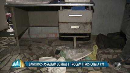 Bandidos assaltam a sede do jornal Tribuna da Bahia, em Salvador