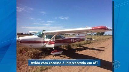 Avião com cocaína é interceptado no oeste de MT