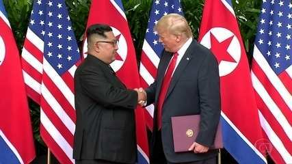 Trump e Kim Jong-un firmam acordo histórico em Singapura