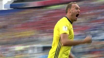 O gol de Suécia 1 x 0 Coreia do Sul pela Copa do Mundo 2018