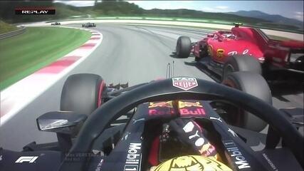 Verstappen toca Raikkonen em ultrapassagem e finlandês reclama
