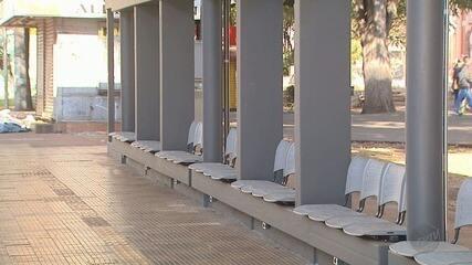 Plataformas de ônibus passarão por reformas na Praça das Bandeiras em Ribeirão Preto