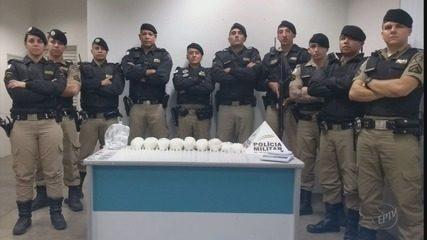 Polícia Militar apreende 4kg de cocaína e mais de 300 pinos da droga em S. S. do Paraíso