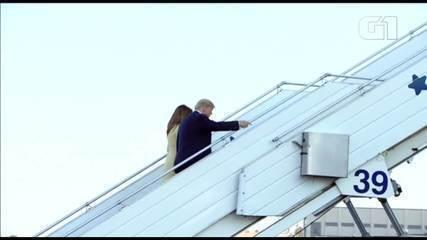 Donald Trump deixa Helsinki após encontro com Putin