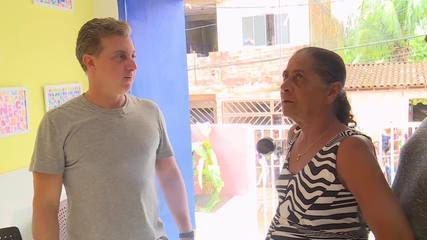 Mãe Nildete conhece a sua creche reformada