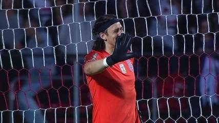 Gol do São Paulo! Reinaldo chuta de longe e Cássio aceita, aos 36' do 2T