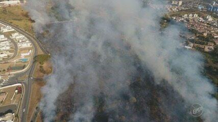 Valinhos registra várias queimadas em diferentes pontos da cidade