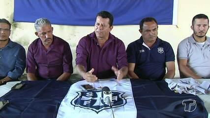 São Francisco apresenta comissão técnica e parte do elenco do time à torcida azulina