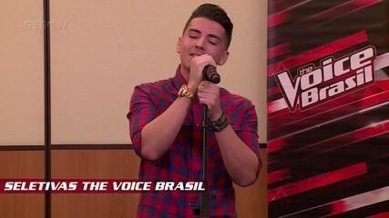 Confira vídeo exclusivo de Renan Valentti na seletiva do The Voice Brasil