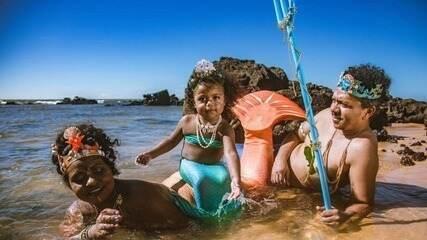 Em Movimento: Família se une pra realizar o sonho da filha de 3 anos em ser sereia