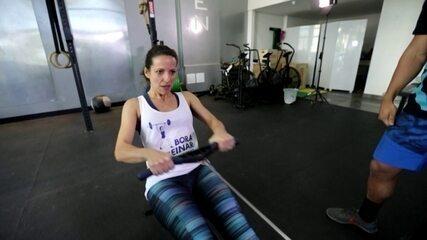 """""""Bora Treinar CrossFit"""": Viviane Costa segue treinando para a prova no fim de agosto"""