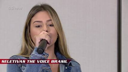 Confira vídeo exclusivo de Rafaela Porto na seletiva do The Voice Brasil