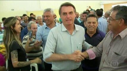 Jair Bolsonaro faz campanha no interior de São Paulo