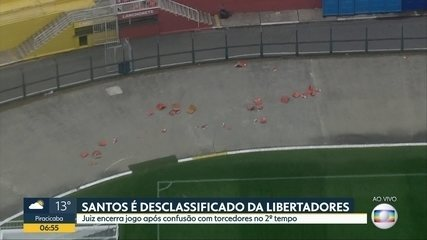 GloboCop mostra estragos no Pacaembu após Santos x Independiente