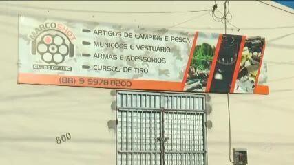 Bandidos roubam armas e munições de loja em Marco
