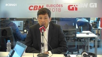 João Amoêdo (Novo) é entrevistado pelo G1 e pela CBN