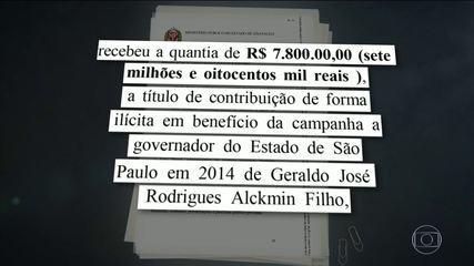 Ministério Público de São Paulo apresenta ação contra Geraldo Alckmin