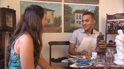 Conheça o trabalho de Marcos Lopes, jovem que restaura peças sacras em Taperoá