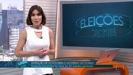 Datafolha divulga intenção de voto para o governo do estado de São Paulo