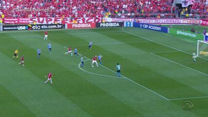 Veja o gol de Edenílson, o último de um jogador do Inter no Gre-Nal