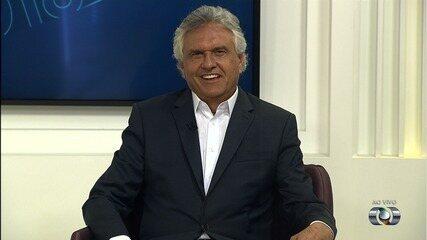 Ronaldo Caiado, candidato ao governo de Goiás, é entrevistado no JA 1ª Edição