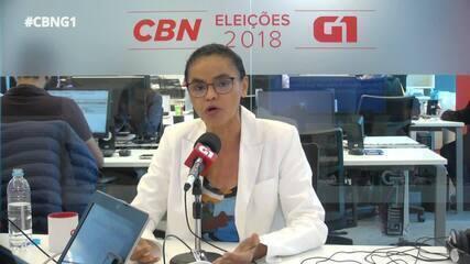 Marina Silva (Rede) é entrevistada pelo G1 e pela CBN