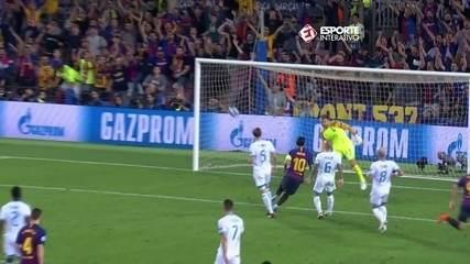 Barcelona estreia na Liga dos Campeões com show e mais um hat trick de Lionel Messi