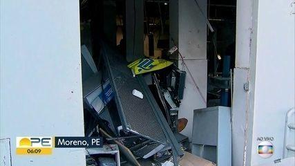 Agência do banco do Brasil é explodida em Moreno, na Região Metropolitna do Recife