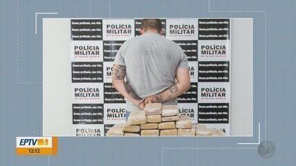 Homem é preso com 45 kg de maconha depois de fugir de fiscalização