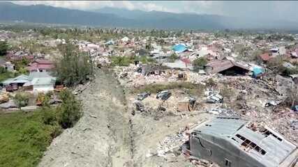 Ajuda internacional chega à região da Indonésia desvatada por terremoto