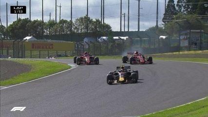 Confira os melhores momentos do Grande Prêmio do Japão de Fórmula 1