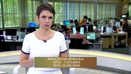 FMI prevê inflação de 10.000.000% na Venezuela