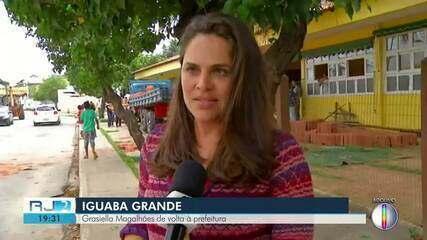 Grasiella Magalhães retornou à prefeitura