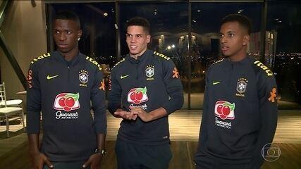 Promessas, Vinicius Junior, Paulinho e Rodrygo jogam juntos em amistoso Sub-20 no Chile
