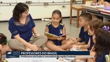 Professora da Eseba em Uberlândia vence etapa regional do concurso Professores do Brasil