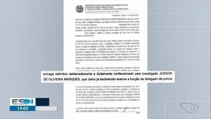 Delegado e investigador são afastados após denúncia do MPES