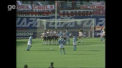 Confira os gols de River Plate 2x4 Grêmio em 2001